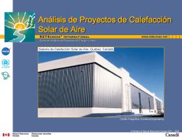 Análisis de Proyectos de Calefacción Solar de Aire
