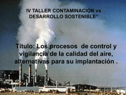 4. Los procesos de control y vigilancia de la calidad del aire