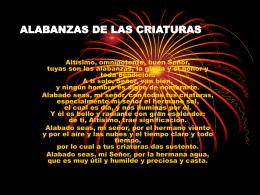 ALABANZAS DE LAS CRIATURAS