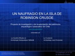 Un naufragio en la isla de Robinson Crusoe