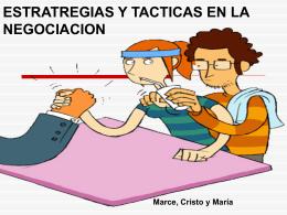 ESTRATRGIAS Y TACTICAS EN LA NEGOCIACION