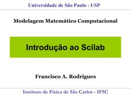Introdução ao Scilab - ICMC