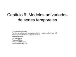 Capitulo 8: Introducción a modelos de series temporales