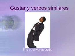 Gustar y verbos similares