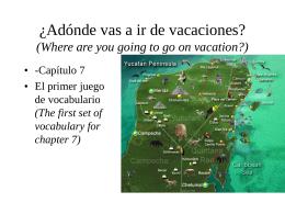 ¿Adónde vas a ir de vacaciones?