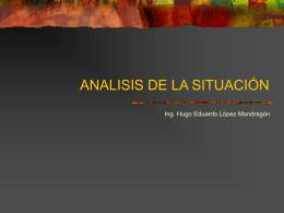 ANALISIS DE LA SITUACIÓN