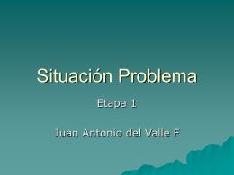 Apreciación de la situación problema