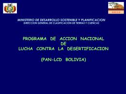 programa de accion nacional de lucha contra la desertificacion (pan