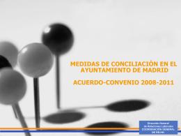 Medidas de Conciliación en el Ayuntamiento de Madrid. Acuerdo