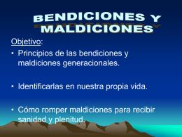 BENDICIONES Y MALDICIONES