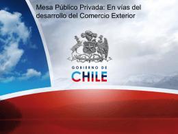 Mesa de Trabajo Pública Privada para el Desarrollo del Comercio