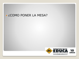 03_Power Point – Montaje de mesa