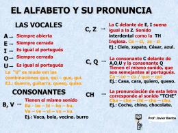 EL ALFABETO Y SU PRONUNCIA