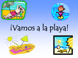 Vocabulario de La Playa