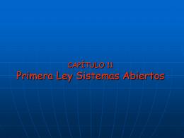 TERMO2005 CAP10 – Primera Ley Sistemas
