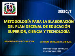 metodología para elaborar el plan decenal de educación