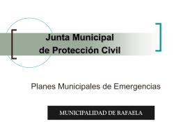 Planes Municipales de Emergencias