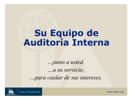 Su Equipo de Auditoría Interna - The Institute of Internal Auditors
