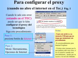 Para configurar el proxy (cuando no abre el internet) 1