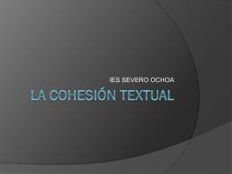 Presentación de la cohesión textual