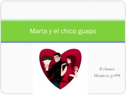 Marta y el chico guapo - El Mundo Hispano