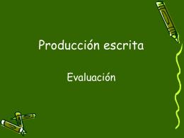 51 - Evaluación de la producción escrita