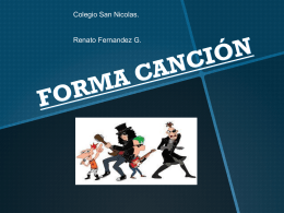 FORMA CANCIÓN - WordPress.com