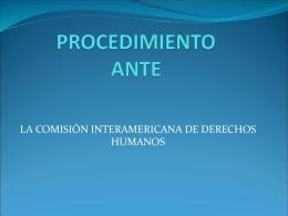 PROCEDIMIENTO ANTE LA COMISIÓN