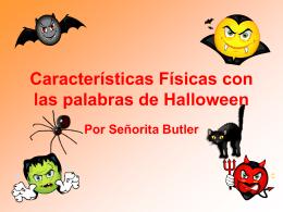 Características Físicas con las palabras de Halloween