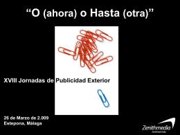 """OoH O (ahora) o Hasta (otra)"""""""