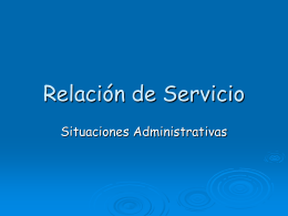 Relación de Servicio
