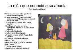 La niña que conoció a su abuela Por: Andrea Haza