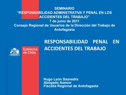 RESPONSABILIDAD PENAL EN ACCIDENTES DEL TRABAJO