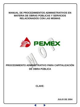 procedimiento administrativo para capitalización de obra pública