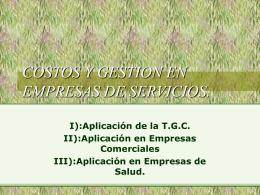 Costos y Gestión en Empresas de Servicios