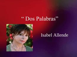 Isabel Allende_ Dos palabras