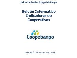 Boletin de Mercado Junio 2014 Cooperativas
