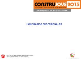 honorarios profesionales - Col·legi d`Aparelladors de Barcelona