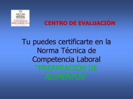 centro de evaluación