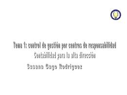 1. Control de gestión por centros de responsabilidad.