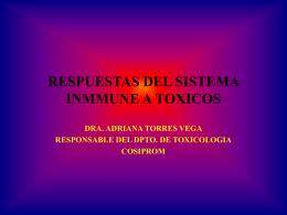 RESPUESTA TOXICA SOBRE EL SISTEMA INMMUNE