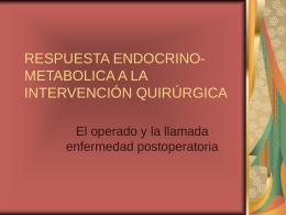 respuesta endocrino-metabolica a la intervención quirúrgica