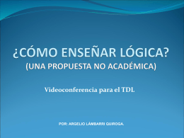 ¿cómo enseñar lógica? - Instituto de Investigaciones Filosóficas