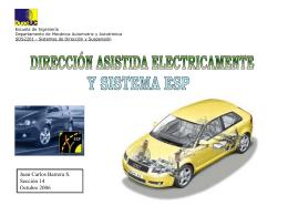 direccion asistida electricamente y sistema esp