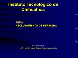 RECLUTAMIENTO DE PERSONAL - ITCh DEPI