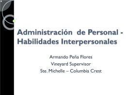 Administracion de Personal Habilidades Interpersonales