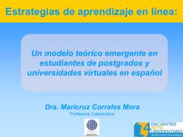 Estrategias de aprendizaje en línea: Un modelo - CAA