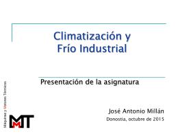 Climatización y Frío Industrial