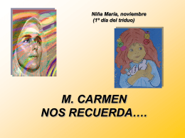 M. CARMEN NOS RECUERDA…. - Concepcionistas Misioneras de