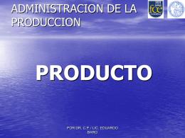 3: Producto - Facultad de Ciencias Económicas